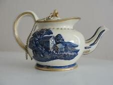 MANCHESTER TEAPOT Miniature COLLECTIBLE handpainted Elegant! (Circa 1810)