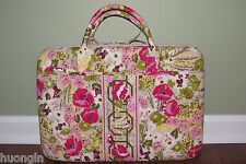 Vera Bradley MAKE ME BLUSH Retired Work LAPTOP PORTFOLIO Hard Computer Case