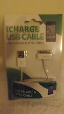 i phone charger usb cable 3g/3gs/4/4s i pod new quality 92/453 icharge