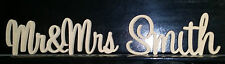 Personalised custom wedding Mr&Mrs Surname freestanding wooden letters sign 20cm