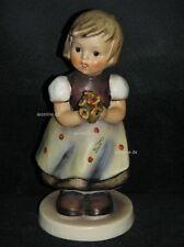 """Goebel Hummel 257 """"Für's Mütterchen"""", for mother, Mädchen mit Blumenstrauß"""