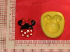 Minnie Mouse 2D Silicone Mold Food 705 Cake Topper Candy Resin Clay Flexible