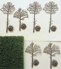 MODEL TREE ARMATURE SET 11 to 16 cms ~ SCENERY FOR MODEL RAIL HO GAUGE BRAND NEW