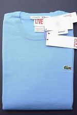 NWT Lacoste Live $165 Men's Crew Neck Ultra Slim Light Blue Wool Sweater M Eur 5