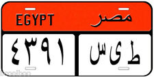 Egypt Red Novelty Car License Plate