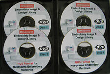 139,877 HUSQVARNA Stickereimaschinen HUS Format Designs Muster 4 DISC BOX-SET