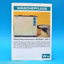 Waschkombination romo 241-1 DDR 1975   folleto publicidad consistente dewag w14