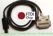 FTDI USB Boss Delta DynaPath Fagor Yasnac CNC Serial Programming DB-25 Male SW