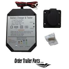 Dump Trailer Battery Charger with Tester
