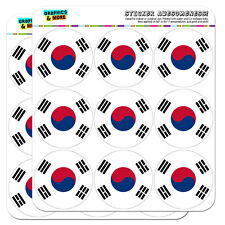 "South Korea National Country Flag 2"" Scrapbooking Crafting Stickers"