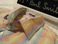 "PAUL SMITH Mens Shirt �� Size 16.5"" (CHEST 46"") �� RRP £95+�� MULTICOLOUR CHECKS"