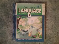 Abeka God's Gift of Language B Teacher's Edition Work-Text for Christian Schools