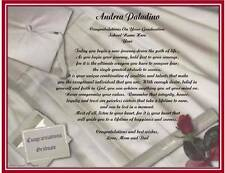 Graduation Personalized Poem Gift For Daughter Son