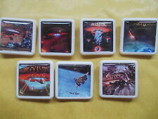 COLLECTION OF 7 DIFFERENT BOSTON ALBUM COVER BADGES /PINS FREE POSTAGE IN THE UK
