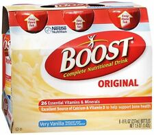 BOOST Nutritional Energy Drinks Vanilla 48 oz (Pack of 2)