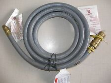 "Gas Grill Natural Gas 3/8"" Quick Disconnect Hose Kit 10 Feet for Standard Grills"