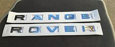 NEW RANGE ROVER CHROME 3M LETTERS HOOD OR TRUNK TAILGATE EMBLEM BADGE NAMEPLATE