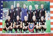 "UNITED STATES WOMENS NATIONAL SOCCER TEAM"" POSTER-Wambach,O'Reilly,Rampone,Lilly"
