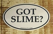 """GOT SLIME? Fishing Bumper Stickers MUSKY MUSKIE 5"""" x 3"""" decals fly fishing rods"""