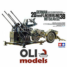 1/35 German 20mm Flakvierling 38 Flak Gun with Sd.Ah.52 Trailer  - Tamiya 35091