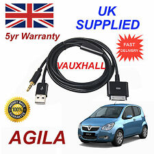 Vauxhall AGILA Series For Apple iPhone 3GS 4 4S iPod Audio Cable black