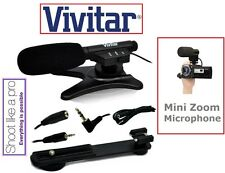 Mini Zoom Professional Microphone For Panasonic HC-VX981 HC-WXF991 HC-X1