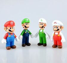 Super Mario Bros Lot 4Pcs Mario And Luigi Figure Toy Super Quality wrb