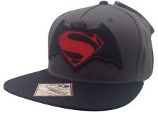 New Men's Batman Vs Superman Dawn Of Justice Snapback Hat Baseball Cap BLK/GRY