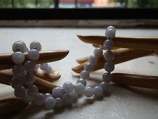 antique 20 inch necklace JADEITE/ jade ICE LAVENDER translucent w/14k RE-STRUNG!