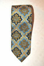 Vintage 100% Auth YvesSaintLaurent  TIE Silk Mens Classic Made in Italy