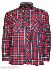 New Mens Flannel Lumberjack Check Brushed Cotton Work Shirts SIzes M L XL 2XL