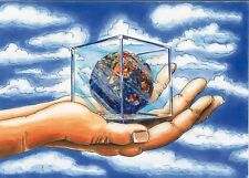 "perfact oil painting handpainted on canvas""a ball in a box in a hand"" @NO3218"