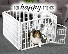 Portable Exercise Playpen Pet Crate Cage Dog Kennel Puppy Fence Folding Play Pen