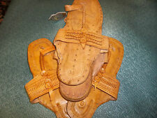 LIGHT BROWN LEATHER BUFFALO SANDALS HIPPY  SHOES FLATS TOE RING STYLE 60S SZ 11