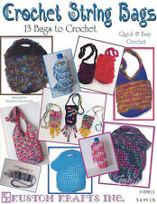 String Bags ~ 13 purses totebags totes bags ~ quick & easy crochet patterns