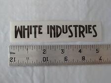 WHITE INDUSTRIES Sticker - Mountain Bike Biking Pedals Hubs MTB