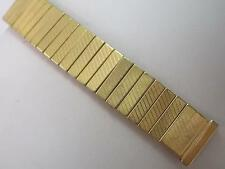 Empire Made 18mm Gold Tone Stainless Mens Vintage Watch Band Scissor Expansion