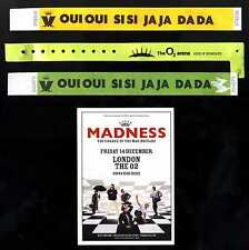MADNESS - WRISTBANDS + FLYER FROM 2012 LONDON O2 CONCERT - SUGGS SKA TWO 2 TONE