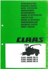CLAAS FORAGER JAGUAR 685 690 695 SL SERIES OPERATORS MANUAL