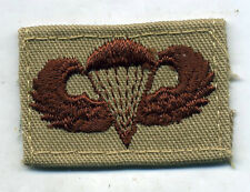 US Army Paratrooper Wing Badge Patch DCU Desert Tan