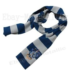 Harry Potter Ravenclaw House LOGO Knit Wool Scarf Wrap Cosplay Costume