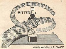 W9752 Aperitivo Bitter CAMPARI - Pubblicità del 1935 - Old advertising