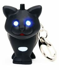 Cat LED Keychain Kikkerland with Super Bright Lights and Sounds Key Ring Torch