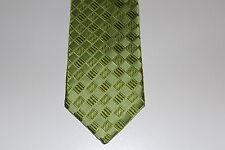 NEU Herren Krawatte Binder Schlips Seide 150 cm grün Karo OVP
