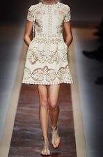NWT $2980 Valentino Laser Cut Lace Dress IT Sz 40 US Sz 4