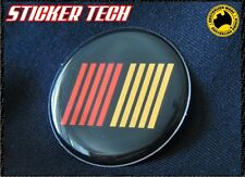 RALLIART STRIPE BLACK CENTER HUB CAP BADGE EMBLEM MITSUBISHI EVO MIRAGE LANCER