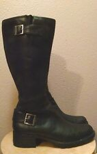 TIMBERLAND 61629 6526 Black Leather Knee High Side Zip Boot Women 9 M