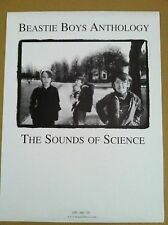BEASTIE BOYS 1999 PROMO POSTER for Sounds of Science CD never displayed MINT USA