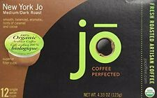 NEW YORK JO: 12 Cup Organic Medium Dark Roast for K-Cup Coffee Brewers, Keurig 1