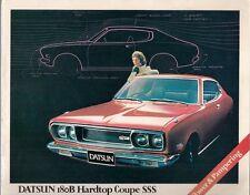 Datsun Nissan Bluebird 180B SSS Coupe 1972-73 UK Market Sales Brochure